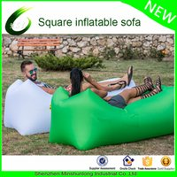 Wholesale Fast Inflatable Camping Lazy Bag Laybag Air Sleeping Bag Sofa Banana beach Bed Air Bed lazy Lounger sac de couchage