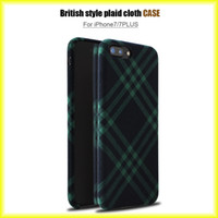 TPU apple lattice - New Fashion For iphone s Lattice Cloth British Wind Phone Case Protective TPU Thin Case via
