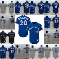 Cheap Baseball blue jays jersey Best Men Short Josh Donaldson jersey
