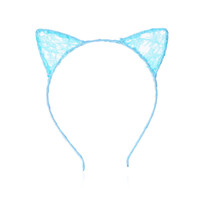 Wholesale 1 PC Stylish Girls Cat Ears Headband Lace Hair band Sexy Head Band Self Photo Prop Baby Children Accessories Cosplay Party
