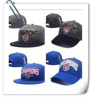 Wholesale Cubs Champions World Series Patch Hat Snapback Caps Adjustable Cap Sport Hats Snap Back Hat Baseball Cap Accept Drop Shippping