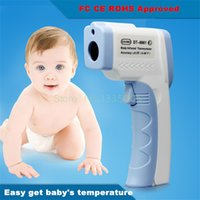 Wholesale LCD Non Contact IR Laser Gun Infrared Digital Thermometer Baby Adult Body Thermometers Children Temperature Measurement Device
