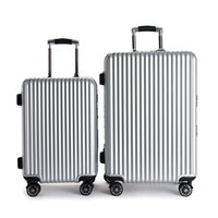 20'22'24'26 'Zipper Luggage, PC Shell Metal Wrap Angle Sac à bagages Rolling Trolley Case Travel Suitcase Wheels Livraison gratuite