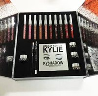 Wholesale Kylie Jenner Liquid Lipstick Box Makeup Gift Bag Lip Gloss Kylie Collection Holiday Bundle Kyliner Shadow Cosmetics Valentine Lip Kit Gift
