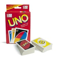 Wholesale UNO poker card standard edition family fun entermainment board game Kids funny Puzzle game J070803