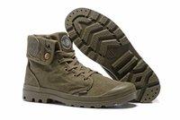 Precio de Hombres zapatos nuevos estilos-Zapatos de tacón alto de la marca de fábrica de la marca de fábrica del estilo del paladio de la venta caliente Muchachos de la ciudad del nuevo hombre de la mujer Zapatillas de deporte cómodas al aire libre del tobillo Tamaño barato EUR 39-45