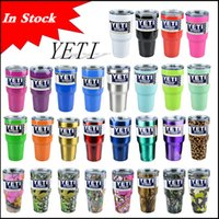 beer stainless steel - In Stock colors Rambler Tumbler oz YETI Cups Cars Beer Mug Large Capacity Mug Tumblerful ml Yeti cups Christmas via DHL