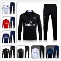 Wholesale New Paris Maillot de foot tracksuits survetement football shirts long sleeves tight pants sportswear training suit soccer Uniforms
