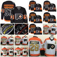 Wholesale 2017 Stadium Series Philadelphia Flyers Shayne Gostisbehere Claude Giroux Travis Konecny Wayne Simmonds Jakub Voracek Provorov Hockey Jersey