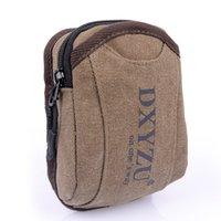 Nouveau sac à bandoulière de mode Mini hommes marque Oxford Canvas sac à bandoulière petit sac Fanny pour téléphone portable porte-monnaie Brown A1022