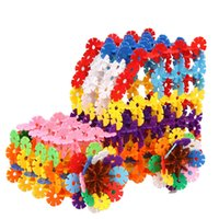 Wholesale Children Souptoys snowflake piece assembling building block Jigsaw puzzle Toys A variety of colors Mixed Deliver goods