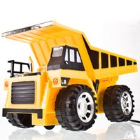 Wholesale Remote Controlled Chargeable RC Truck bulldozer navvy rooter toys for children big truck