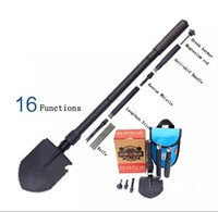 army shovel folding - High Quality Alloy Steel Outdoor Driving Camping Fishing Portable Folding Shovel Car Sapper Military Shovel Army Survival Tool
