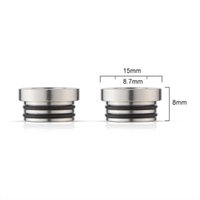 Wholesale TFV8 Adapter for SMOK TFV8 Tank Connecter Adaptor E Cigarette Stainless Steel TFV8 Drip Tips Adapter