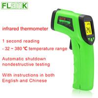 Wholesale to F Infrared thermometer high precision pistol type temperature measuring gun holding non contact infrared thermometer