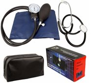 Wholesale 2017 hot selling product up Aneroid Sphygmomanometer Blood Pressure Measure Device Kit Cuff Stethoscope