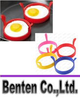 Wholesale Silicone Fried Frier Oven Poacher Pancake Egg Poach Ring Mould Egg Kitchen Tool Random Color LLFA