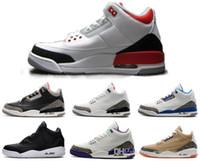 al por mayor cyber-Wholesalel aire retro 3 zapatos de baloncesto OG verdadero azul Cyber lunes fuego rojo zapatillas nuevos lanas llegaron zapatos de descuento para el hombre desgaste