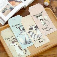 Las PC al por mayor-5 / las postales creativas del sobre de los animales de la pintada de la porción envían los efectos de escritorio de los efectos de escritorio de los sobres de papel de la tarjeta de felicitación