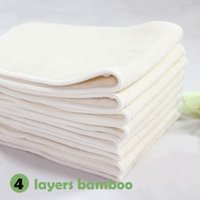bamboo baby cloth diapers - 30pcs Low moq layers bamboo towel reusable fashion baby pants cloth diaper bamboo nappy insert
