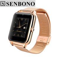 Dispositifs portables intelligents Prix-Senbono Smart Watch Bluetooth Z50 2G Internet NFC Support Carte SIM TF Dispositifs portables SmartWatch pour Apple Android Phone