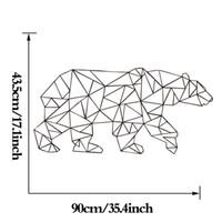 Estrella Polar Bear Wallpaper Linear Pattern Series Produits Décoration intérieure Stickers muraux Décoration de mode simple Livraison gratuite