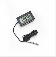 Color blanco negro W1128 del TANQUE temperatura -50 ~ 110C GT de los PESCADOS del acuario del congelador del refrigerador del refrigerador del refrigerador del termómetro de la pantalla de 500pcs Digitaces LCD
