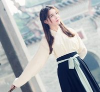 Wholesale Original national wind restoring ancient ways is day to day hanfu modified antique female costume embroidery collar waist Ru skirt three pie