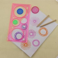 Wholesale Kids Puzzle Toys Spirograph Geometric Ruler Learning Drawing Tool Stationery for Student Drawing Set Creative Gift WJ004