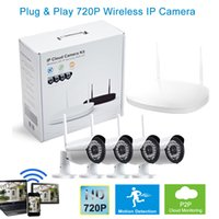 al por mayor sistemas de cámaras de seguridad de red-Plug and Play HD 720P de red inalámbrica WIFI sistema de vigilancia de la cámara P2P 4 mm lente de seguridad IP Cámara