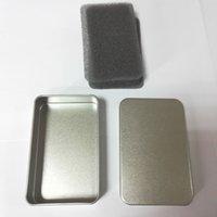 Wholesale 320pcs mm mm mm Size Plain Silver Slide Top Tin Box Rectangle Make Up Organizer Jewelry Boxes Sundry Tool Holder ZA1119