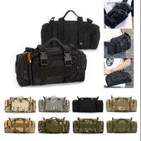 Wholesale Tactical Military Waist Pack Shoulder Outdoor Bag Out Camping Hiking Pouch Molle Rucksacks Outdoor Sport Shoulder Messenger Pouch KKA1405