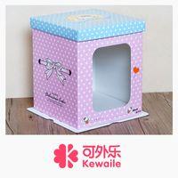 Wholesale Pink Kitty cat Bobbi doll box cake box packaging box