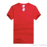 Wholesale New Summer T Shirt For Men POLO Short Sleeved V Neck Fashion Solid Color Cotton Quality Customize Comfortable Breathable Work Uniforms