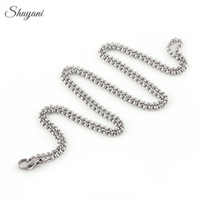 Wholesale 60cm Link Long Chain Silver Floating Locket Chains Stainless Steel Locket Chains Necklace for Floating Locket