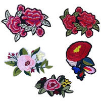 Wholesale Large high end custom patch dance cheongsam bag accessories flowers DIY embroidery stickers creative stickers lovely life decals sewing clot