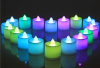 Wholesale The small cute electronic candle led candle light colorful candle lights make a proposal wedding celebration confession
