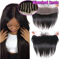 Wholesale 8A Peruvian Silky Straight Lace Frontal Closure Size Ear to Ear Full Lace Frontal Unprocessed Virgin Human Hair Natural Black