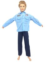 best police uniforms - NK Original Doll Prince Clothes Combat Police Uniform Cop Outfit For Barbie Boy Male Ken Doll For Lanard Soldier Best Gift