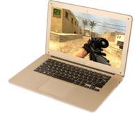 Wholesale 14 inch ultrabook slim laptops Itel Celeron J1900 Quad core GB GB WIFI laptop notebook Golden DHL FREE