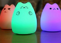 best nightlight - 3 Modes Portable Silicone LED Night Lamp single colors mode and color breathing light mode best nightlight for children