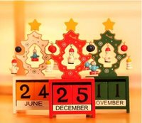bamboo cart - Christmas decorations Wooden furnishing articles Christmas tree deer deer cart snowman counter desktop calendar Christmas gifts