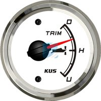 Wholesale KUS Boat Trim Gauge Marine Trim Tilt Indicator for Inboard Outboard Engine UP DOWN Stainless Steel Bezel mm