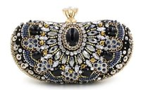 beaded fashion frames - Fashion Day Clutch Party Bags Hand beaded Diamond Evening Bag Dress Clutches Ladies Luxury Rhinestone Crystal Clutch Pochette