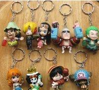 big ones video - 9 piece One piece luffy nami zoro keychain strap key chain