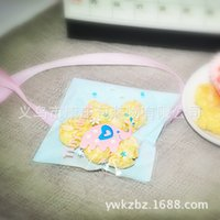 Wholesale Blue cute elephant Gingerbread bag bag of cookies pastry candy bag bag