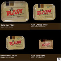 Wholesale Raw Tray Rolling Tray Metal Cigarette Smoking Rolling Trays Tobacco Plate Size Available Smoking Accessories CCA5440