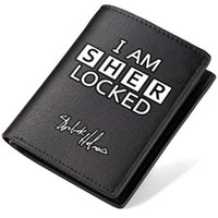 Wallets best cashes - Sherlock wallet Best detective purse I am sherlocked short long cash note case Money notecase Leather burse bag Card holders