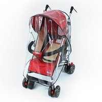 Plastic baby stroller rain cover - Universal Strollers Pushchairs Baby Carriage Waterproof Dust Rain Cover Windshield