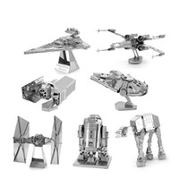 Wholesale 3d metal laser cut assembly model d metallic nano puzzle toys star wars musical instrument d puzzle Chirstmas gifts